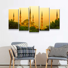 Canvas Art Prints 5 Panel Home Decoration Wall Painting Set Istanbul Turkey Dusk View Decor Pictures Contemporary Art Houseroom