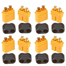 Original Amass XT60+ Plug Connector With Sheath Housing 5 Male 5 Female (5 Pair )