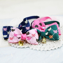 Manufacturers selling pet dog peach bell bow tie jewelry adjustable cat collar tie