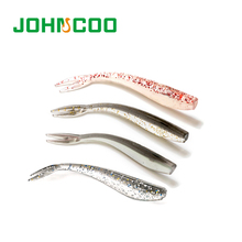 Fishing Lure 12pcs 7cm 1.3g Pesca Soft  Artificial Lure Wobblers Silicon Lure And Swimming Bait Double Colors Ultra Light Lure