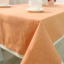 Hot sale pastoral style cotton cloth tablecloths quality fresh flowers a generation of fat cover coffee table towel