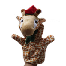 1 piece, Christmas giraffe  hand puppet. Educational  Christmas animal  hand puppet, wholedale, free shipping  t