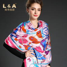 2017 Women Silk Scarf Square Natural Grade AAAAA 100% Genuine Mulbery Silk Twill Print Winter Fall Scarves Shawls 144x144 NXSP32