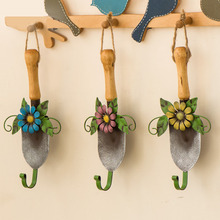 Creative home decor hook,European-style hand-painted shovel shape hanger hooks,Iron Retro Key coat rack,2PCS/lot