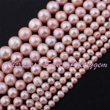 "Natural Freshwater Pearl Purple Stone Beads Strand 14.5"" 5-6/6-7/7-8/8-9mm,For Bracelet Necklace Jewelry Making,Free Shipping"