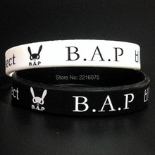 50pcs K-POP B.A.P silicone wristband Best Absolute Perfect BAP rubber bracelets free shipping(China)