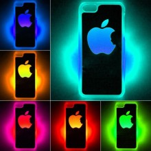 For Apple iPhone 5C Led Lcd Light  Color Changed Flash Sense Cover Case