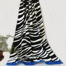 2016 New Summer Large Cotton Zebra Stripe Beach Towels Black and White Bath Towel Serviette De Plage