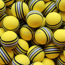 Free Shipping Hot NEW 100pcs/bag EVA Foam Golf Balls Yellow Rainbow Sponge Indoor Practice Training Aid