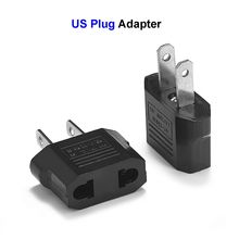 1000pcs US American Plug Adapter 2 Pin EU European Euro China To US Travel Adapter Plug Outlet Power Converter Electric Socket(China)
