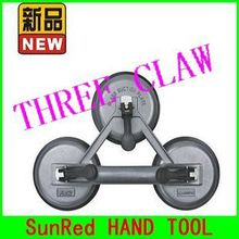 BESTIR taiwan made high strength aluminum alloy three claw glass suction plate hand tool,NO.04423wholesale freeshipping