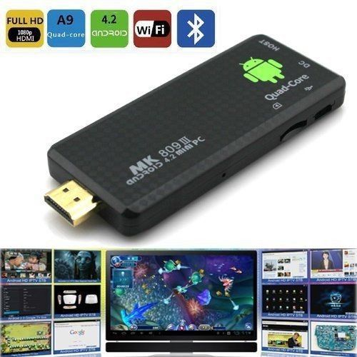New Smart Quad Core PC TV Box MK809 III RK3188 Android 4.2 HDMI WIFI Bluetooth<br><br>Aliexpress