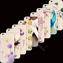 5/5S SE 4'' Wholesale Price Painting Melancholic Lotus Silicon Phone Cases Cover For Apple iPhone 5 5S iPhone SE Case Cases