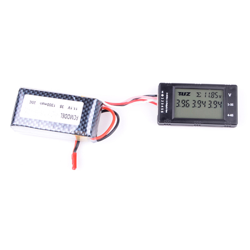 High Quality FCMODEL Digital 1S-6S Cell Battery Capacity Tester For RC LiPo LiFe NiMH Battery Tester Charger With LED Light(China)