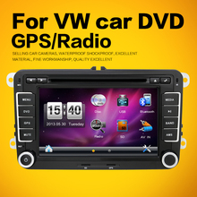 2 Din car dvd player Aux gps Stereo 7 inch USB FM RDS Maps For VW Skoda POLO GOLF 5 6 PASSAT CC JETTA TIGUAN TOURAN Fabia Caddy(China)