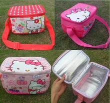 Retail Hello Kitty Thermal Printing Lunch Box Bag Insulated Cooler Bag Picnic Dining Travel Tote Bag freeshipping