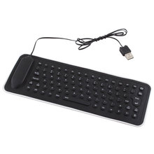 Durable 85 Keys Flexible Wired USB Keyboard Waterproof English Silicon Interface Foldable For Xiaomi Laptop Notebook PC #22158(China)