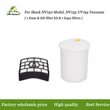 HEPA Filter For Shark Foam & Felt Filter Kit NV755 UV795 Rotator Lift-Away Vacuum Vacuum Cleaner Parts XFF750 & XHF750