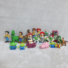 20pcs/lot Woody, Buzz Lightyear Story Action Figures PVC Toys Kid Toys From Toy Story