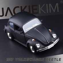 1967 Volkswagen old funds double-door Beetle 1:32 Pull Back Alloy Car Model Toy Metal VW Beetle