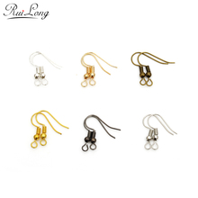 200pcs/lot silver rhodium gold-color antique bronze gunmetal earring hooks ear wire for earrings DIY jewelry making findings