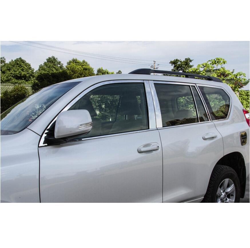 24pcs Window Pillar Sill Molding Trim For Toyota Land Cruiser Prado FJ150 10-18