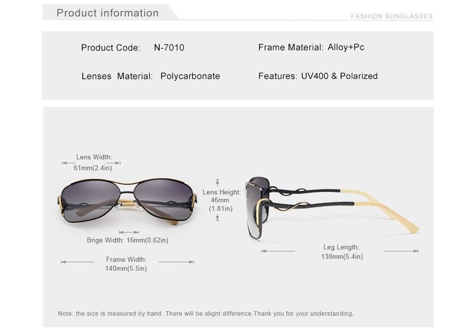 Women Cat Eye Sunglasses N7010