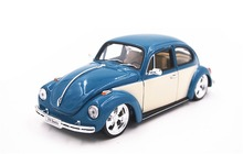 Welly 1:24 Volkswagen Beetle Hard Top Azure White Diecast Model Car Vehicle Toy New in Box