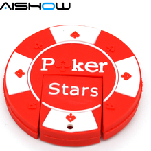 100% real capacity Poker Stars Game fans 4GB 8GB 16GB rubber USB flash memory drive Pen U disk Box packed gift