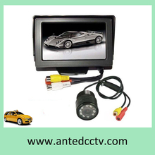 HD Mini Color Night Vision Car Rear View Camera with Monitor 4.3 inch DC12V for Reversing Backup Parking Asistance