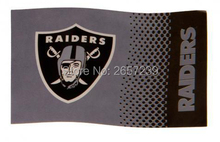 Oakland Raiders  logo wordmark  Flag 3x5FT NFL banner150X90CM 100D  Polyester brass grommets custom flag, Free Shipping
