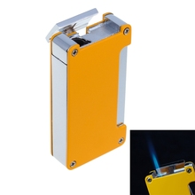 High-Grade Windproof Lighter Torch Jet Flame Refillable Blue Flame Inflatable Single Flame gas torch Lighter Cigar Lighter(China)