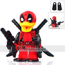 IN STOCK Single Sale 2017 D1012 Deadpool Howard Deadpool Duck Super Heroes Building Blocks Children Gift Toys Drop Shipping