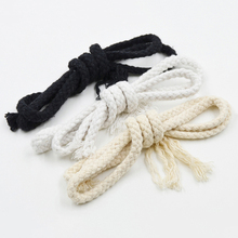 8MMX10Meters DIY Handmade Cotton Rope Woven Cotton Cord String For Accessories Bag Craft Projects Cordon Coton Rond 3 Color(China)
