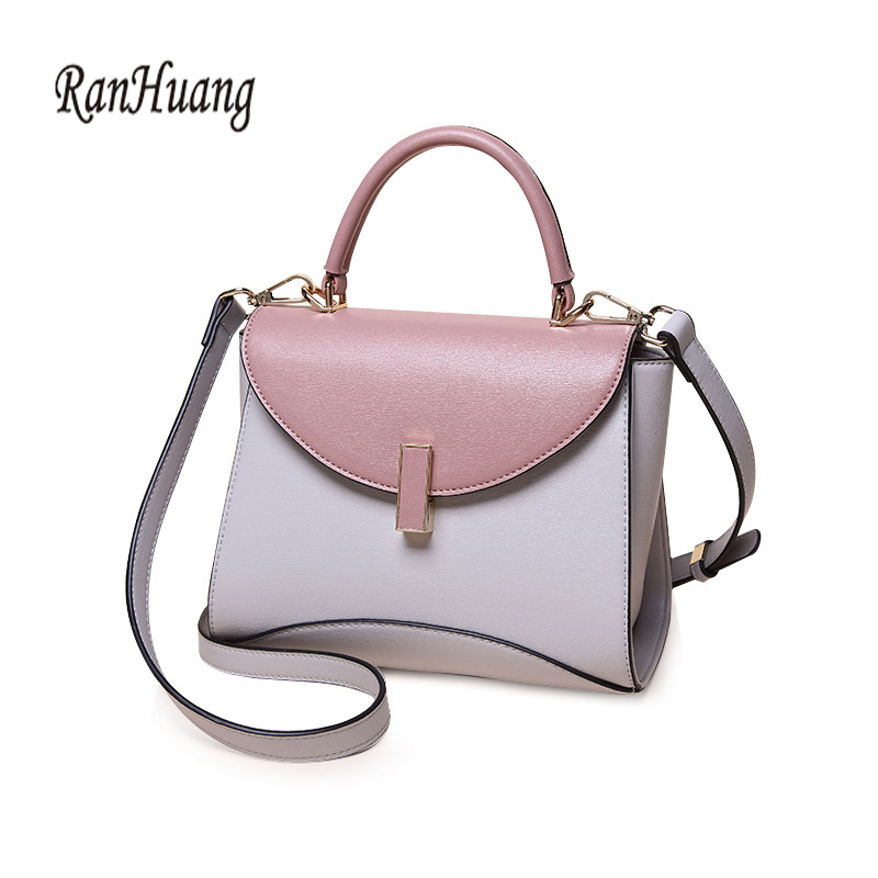 RanHuang Brand Women Luxury Handbags Small Tote Bags Fashion Patchwork Handbags Womens High Quality Leather Shoulder Bags A947<br>