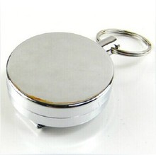4 cm easy to pull all-metal buckle elastic rope high resilience anti-lost burglar retractable key ring key chain(China)