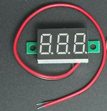 NEW DC 4.5V-30V 2 wires 3 bits Red Digital Voltage Panel Meter Voltmeter tester for car