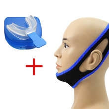 Stop Snoring Mouth Piece Sleep Apnea Night Guard + Anti Snore Chin Strap Belt Jaw Supporter Nasal Strips CPAP