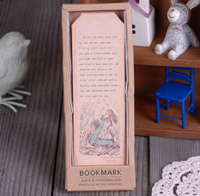 1 Pack 18 sheets Vintage Series Bookmark Alice in Wonderland paper bookmarks Book holder material book marks