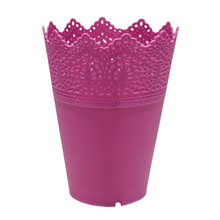 Wholesale 5* Crown Lace Flower Plant Pot Planter Holdwer Decor Rose Red(China)