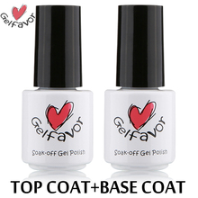Gelfavor 7ml Nail Top Base Coat Primer Long-lasting Nail Gel Polish Soak-Off UV Lacquer Best on AliExpress