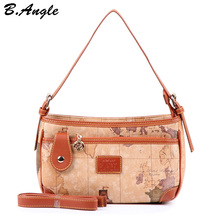 New fashion high quality world map women bag women messenger bags dollar price(China)