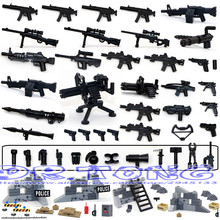 DR.TONG Military Series Swat Police Gun Weapons Pack Army Weapon Brick For City Police Building Blocks Bricks Child Gift Toys