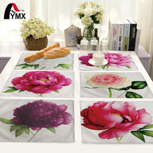 Fashion Flower Rose Pattern Table Mat Kitchen Decoration Table Napkin For Wedding Table Mat Placemat Dining Accessories