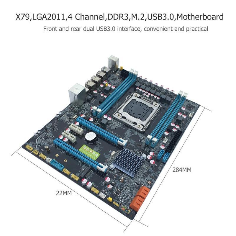 Интернет магазин товары для всей семьи HTB1iuyvaEvrK1RjSszfq6xJNVXa9 VAKIND X79 материнской Золотой LGA2011 ATX USB3.0 SATA3 PCI-E NVME M.2 SSD Поддержка 4xDRR3 DIMM ECC REG памяти/Xeon E5 процессор