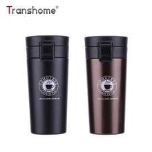 Transhome Stainless Steel Tumbler Thermocup Coffee Mugs 380ml Thermos Fashion Insulation Water Bottle Travel Mug Vacuum Flasks(China)