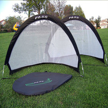Kids Outdoor Play Tent Generic Football Fold-able Soccer goals Portable Steel Football Nets Carry Case 4*2Ft Target two Goals(China)