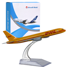 WR DHL Exclusive Airplane Model Color Orange Mini Aircraft Model Desktop Decoration Express Plane Model For Christmas Gifts(China)