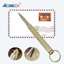 ACMECN Multifunction Letter Opener Silver & Gold Office Accessory Creative Design Office and Outing 2 in1 Mini Tool Metal Opener(China)