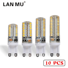 LAN MU 10 PCS G9 LED 220V 7W 9W 10W 11W Corn Bulb 360 degrees Lamp g9 bulbs High Quality Chandelier Light Replace Halogen Lamp